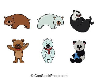 bear illustration design collection