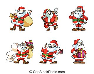 santaclaus illustration design collection