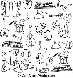 Doodle of music element