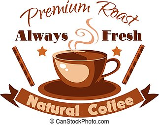Always fresh natural coffee icon
