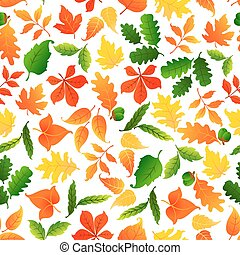 Color leaves seamless pattern background - Colorful leaves...