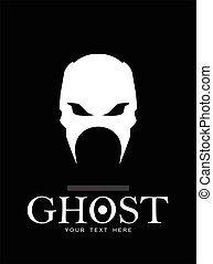 Warrior Phantom Ghost White skull