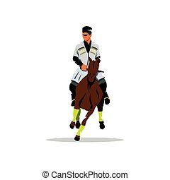 Georgian horseman. Vector Cartoon Illustration. - Beautiful...