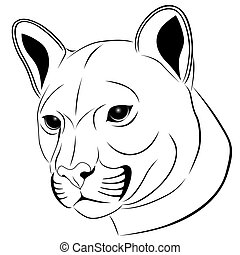 Cougar, tattoo - Cougar in the form of a tattoo