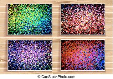 color splash illustration set - Set of abstract color splash...