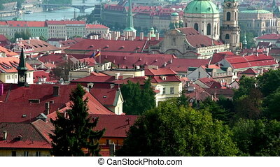 View of ancient roofs Prague Czech Republic - View of...