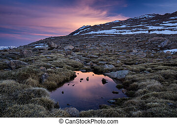 Sunrise on Mount Evans - Mount Evans, Colorado