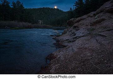 Platte River At Night - Deckers, Colorado