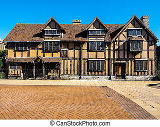 Shakespeare birthplace in Stratford upon Avon HDR - High...