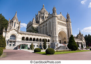 Basilica of Lisieux Normandy, France - Basilica of Lisieux...