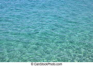 Transparent sea water of the Mediterranean Sea for a...
