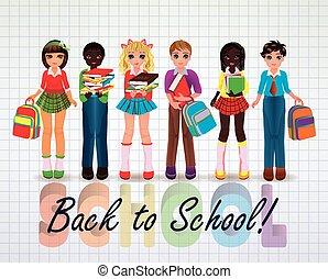 Back to School Little school friend