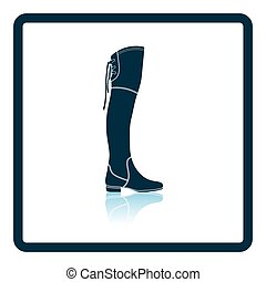 Hessian boots icon. Shadow reflection design. Vector...