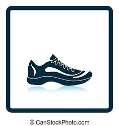 Sneaker icon Shadow reflection design Vector illustration