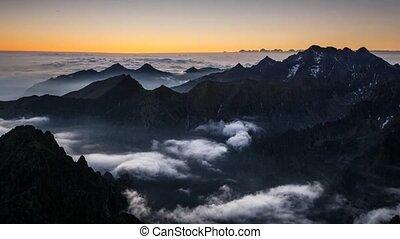 Landscape mountain in Tatras, peak
