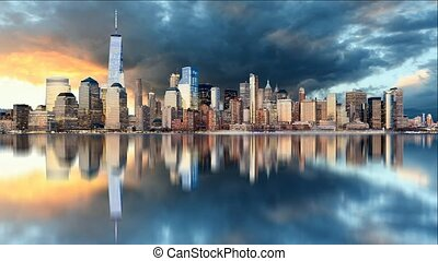 Manhattan skyline, New York City at
