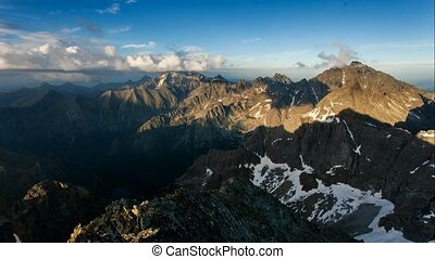Sunset on mountain, Tatras, Slovakia