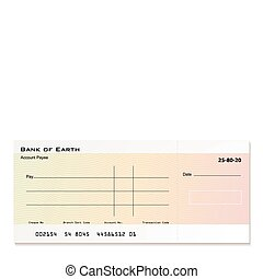 Bank cheque - Illustrated bank cheque with room for your own...