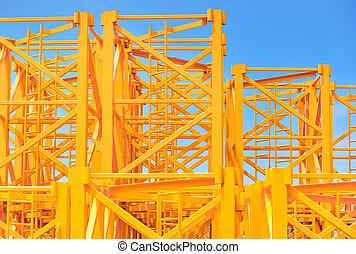 Equipment parts for construction crane