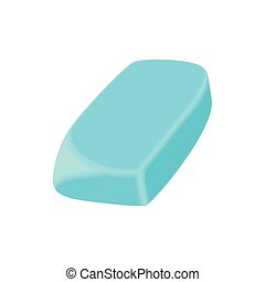Eraser icon, cartoon style