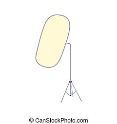 Reflector for photography icon, cartoon style - Reflector...