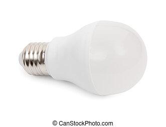 Energy saving LED bulb isolated on a white background