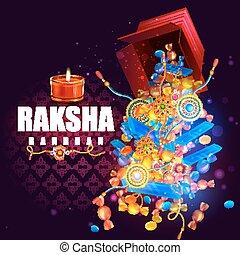 Raksha bandhan background for Indian festival celebration -...