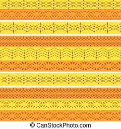 Ethnic geometry seamless pattern.