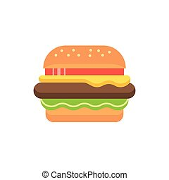 hamburger vector icon sign