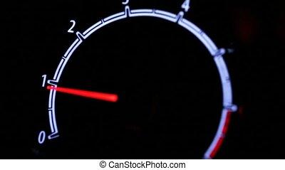 Tachometer metering video