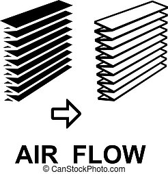 air filter black symbol - illustration for the web