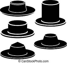 hat black icon - illustration for the web