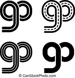 go racetrack infinity eight symbol - illustration for the...