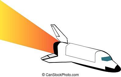 Space shuttle. Vector illustration eps 10.