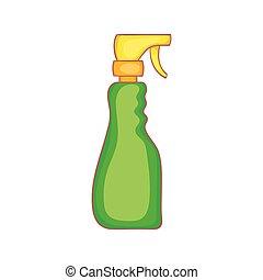 Household spray bottle icon, cartoon style - Household spray...