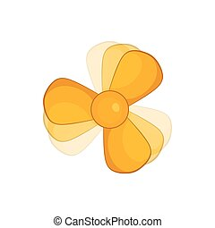 Car fan icon in cartoon style - icon in cartoon style on a...