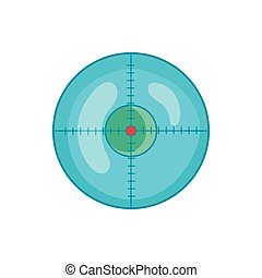 Optical sight icon in cartoon style - icon in cartoon style...