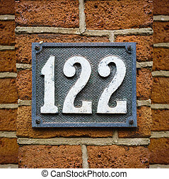 Number 122 - house number one hundred and twenty two