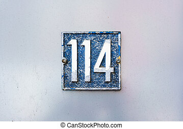 Number 114 - House number one hundred and fourteen