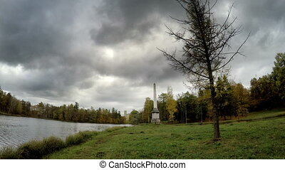 cloudy autumn day over the lake Russia - cloudy autumn day...