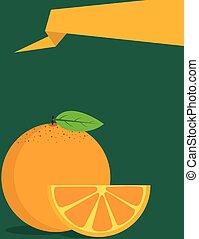Orange fruit poster design
