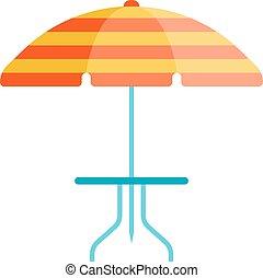 Umbrella vector illustration - Cute multi colored beach...