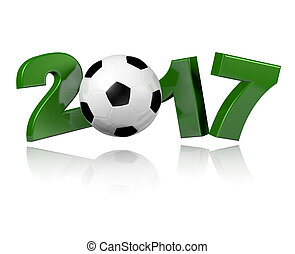 Football 2017 design with a white background