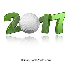 Golf 2017 design with a White Background