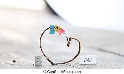 Happy Father's Day celebrations idea, heart with text -...