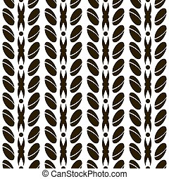 Abstract seamless pattern with large divided ovals....