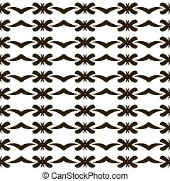 Seamless black and white pattern with roundish figures -...