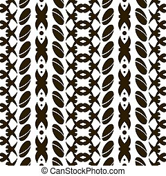 Seamless pattern of divided ovals and crisscrossing rounded...