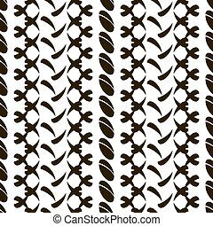 Seamless pattern of divided ovals and roundish elements -...