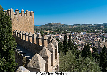 Castle of Arta Mallorca Spain - View from the Castle in...